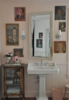 Farrow & Ball pink bathroom.