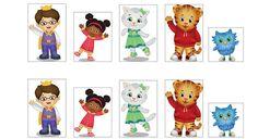 Daniel tiger cutout tags