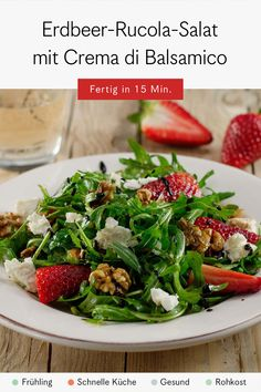 Das perfekte schnelle Rezept für den Sommer Green Beans, Vegetables, Food, Salad With Strawberries, Lettuce Recipes, Side Plates, Healthy Recipes, Easy Meals, Veggies