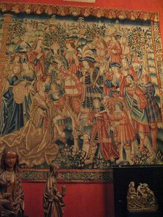 Daniel and Nebuchadnezzar, tapestry, Tournai, start of the 16th century, Musee du Moyen Age, Paris.
