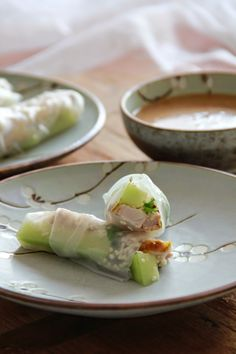 spring rolls met knapperige kip