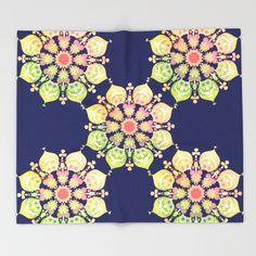 #Indigo #Flower #Throw #Blanket #cozy #decor #sofa #beautiful