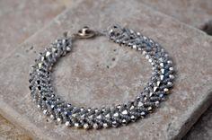 Swarovski Sparkle Flat Spiral Bracelet  FREE by busybeaddesigns, $42.00
