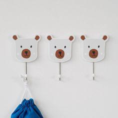 Mr Bear Coat Hooks (Set of 3) - Coat Hooks - Room Accessories