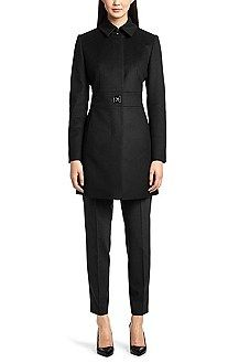 Hugo Boss Wool coat 'Mirandi' in a new-wool blend, Black