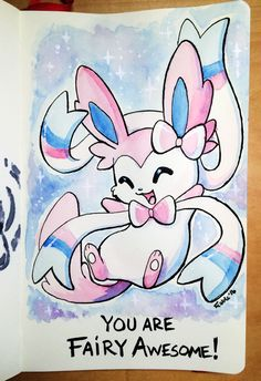 160325 Fairy Awesome Sylveon by fablefire.deviantart.com on @DeviantArt