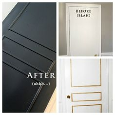 3 panel door from flat door via Babble