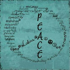 A world of peace...