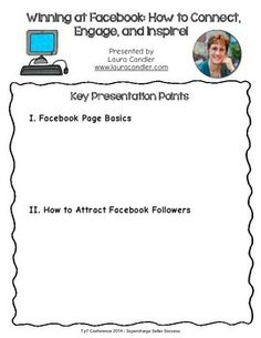 FREE Winning at Facebook (TpT 2014 Conference Handout)
