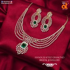 Adorn the glisten of Diamonds with royalty and grandeur to intrigue your senses. Diamond & Gold Jewellery from Anopchand Tilokchand Real Diamond Necklace, Diamond Jewelry, Gold Jewelry, Indian Jewelry Earrings, Small Necklace, Jewelry Patterns, Necklace Designs, Designer Jewellery, Designer Earrings