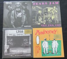 Online veilinghuis Catawiki: Nirvana / Pearl Jam / Dinosaur Jr. / Mudhoney - Great batch of 4 (Alt.)Rock/Grunge LP's, including 3 limited edition of which 2/3 are on limited, numbered and out of print coloured vinyl!