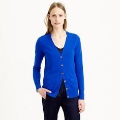 Summer's over. Time to break out the cashmere. We work with one of the best Italian mills to create ours—it's famously soft, comes in completely custom colors and, if you treat it with love, it will last forever. This cardigan is the perfect balance of a slightly oversize shape with flattering skinny sleeves (so now you can stop stealing his). <ul><li>Loose fit.</li><li>Hits below hip.</li><li>Italian cashmere in a 12-gauge knit.</li><li>Welt pockets.</li><li>Hand wash.</li><li>We recommend…