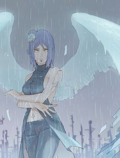 Lady angel of the hidden rain Naruto Shuppuden, Naruto Fan Art, Naruto Shippuden Sasuke, Naruto Girls, Itachi, Akatsuki, Reborn Anime, Konan, Fanart