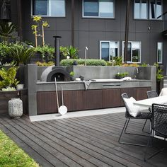 """709 Likes, 8 Comments - HARRISONS (@harrisonslandscaping) on Instagram: """"Fire up the BBQ it's Saturday!! Outdoor kitchen we installed in Mosman with a bluestone bench top…"""""""