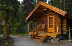 pics of small cabins | This log cabin is deep in the forest of Yoho National Park in British ...
