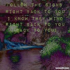 """-- #LyricArt for """"Back To You"""" by Twin Forks"""