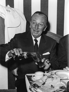 Walt Disney enjoys an American classic. Coca Cola and Disneyland maintained a lessee relationship for a great many years.