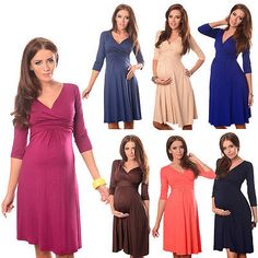 e0b6f206586aa Purpless Maternity Dress Vneck Pregnancy Clothing Size 8 10 12 14 16 18 Top  4400 | Dresses | Maternity