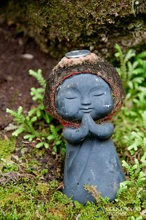Genial Buddhist Statue Jizo, Daisho In Temple   Miyajima, Japan A Buddhist Statue  Of