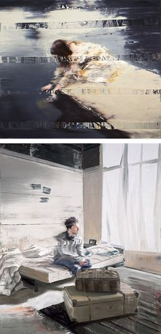 'glitch paintings' / andy denzler.