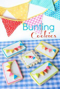 Bunting Cookies