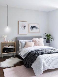 pink grey bedroom idea bedroom for women for teens for girls for couple master bedroom design. Bedroom Ideas For Couples Pink Gray Bedroom, Bedroom Makeover, Home Bedroom, Room Inspiration, Couples Master Bedroom, Modern Bedroom, Small Bedroom, Simple Bedroom, Bedroom
