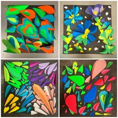 Spring Art Projects, Easy Art Projects, Kindergarten Art Lessons, Art Lessons Elementary, Primary School Art, 6th Grade Art, Jr Art, Art Curriculum, Teaching Art
