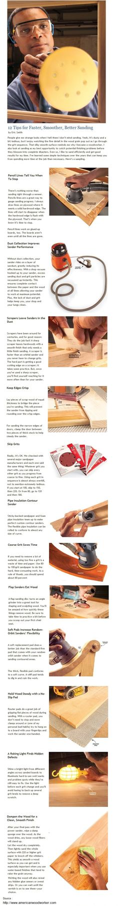 12 Tips for Faster, Smoother, Better Sanding ( by Americanwoodworker.com )