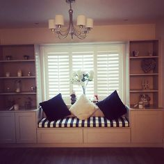 Shutters fitted in the most beautiful house in Terenure Beautiful Homes, Most Beautiful, Shutters, Valance Curtains, It Is Finished, Rice, Windows, Interior Design, Storage