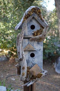Birdhouse Country Rustic Condo  Garden Bird by BirdhousesByMichele, $75.00