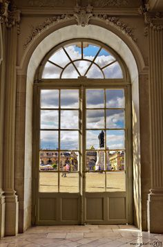 Nancy, France. Place Stanislas from inside the City Hall's building.