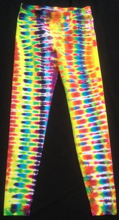 Psychedelic Leggings Sz Large by PsychedelicTieDyes on Etsy, $45.00