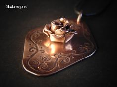 Artizani romani| Mestesugari romani | Pandantiv din cupru handmade