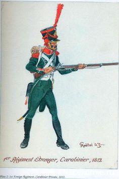 1er Régiment étranger, Carabinier 1812