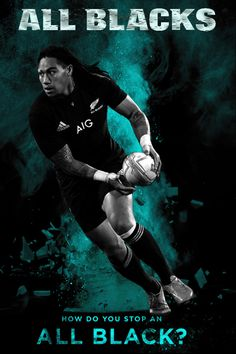 All Blacks rugby 2015 - How Do You Stop An All Black? Series created by Gordon Tunstall using Adobe Photoshop - 2015 TOP 1 league of legends player All Blacks Rugby Team, Nz All Blacks, Rugby Sport, Sport Football, Rugby School, Rugby Poster, Rugby Girls, Australian Football League, Sonny Bill Williams
