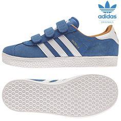 adidas Originals Gazelle C Kinder Sneaker blau/weiß/gold Mode Kinder Schuhe | Fussballgott24