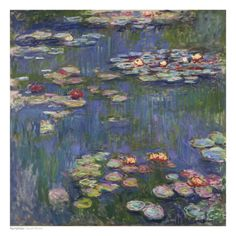 Water Lilies (Nymphéas), c.1916 Art by Claude Monet at AllPosters.com $30 laminated