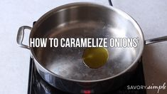 Learn how to caramelize onions with this step-by-step tutorial! Caramelized onions add tons of savory richness to countless recipes. Caramelized Onions Recipe, Carmelized Onions, Healthy Cooking, Cooking Tips, Cooking Recipes, Basic Cooking, Cooking Videos, Healthy Food, Vegetarian Recipes