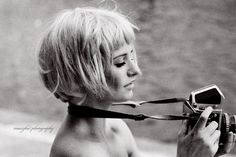 Short crop hair with bangs // PaperTissue. on vi.sualize.us