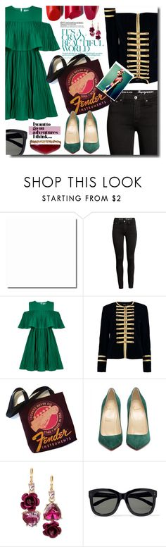 """Bez naslova #1137"" by wuteringheights ❤ liked on Polyvore featuring Jovonna, Boohoo, Betsey Johnson and Linda Farrow"