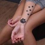 Cute Dog Paw Tattoos
