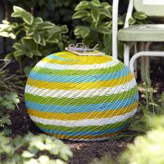 Cable Woven Spiral Stool I by Karma Living