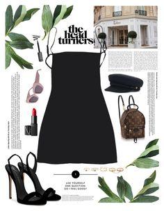 """""""SUNDAY"""" by yagmur ❤ liked on Polyvore featuring NARS Cosmetics, Louis Vuitton, Giuseppe Zanotti, Anja and LULUS"""