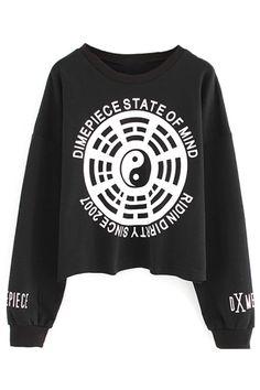 Women's Fashion Clothing #Dimepiece State of Mind #Sweatshirt - OASAP.com