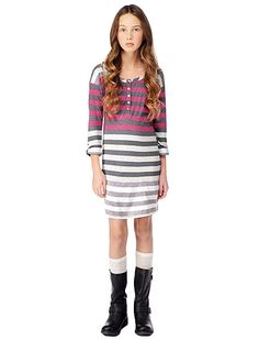 Gradient Stripe Dress with Supima Cotton, $84.00