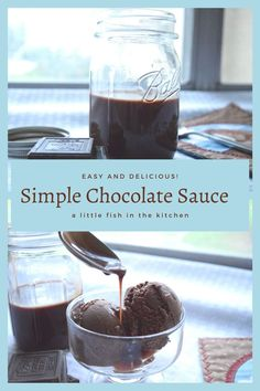 This is our family's favorite recipe for simple chocolate sauce. It comes together in just minutes and it's delicious on cake, ice cream and fruit! #howtomakechocolatesauce #chocolatesauce #simplechocolatesauce #chocolatesaucerecipe #chocolatesauceforicecream #chocolatesauceforfruit Chocolate Muffins, Chocolate Desserts, How To Make Chocolate, Melting Chocolate, Strawberry Truffle, Baking Recipes, Dessert Recipes, Xmas Desserts, Elegant Desserts