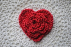Layered Daisy in a Heart tutorial by Cre8tion Crochet