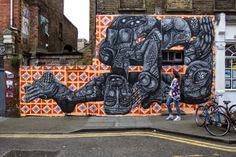 Street art in East London, UK, by street artist Zio Ziegler.