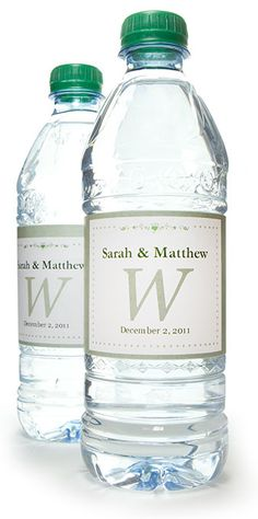 Personalzied Water Bottle Labels Custom Personalized