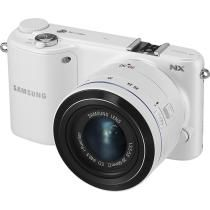 Samsung - NX2000 20.3-Megapixel Digital Compact System Camera with 20-50mm Lens - White